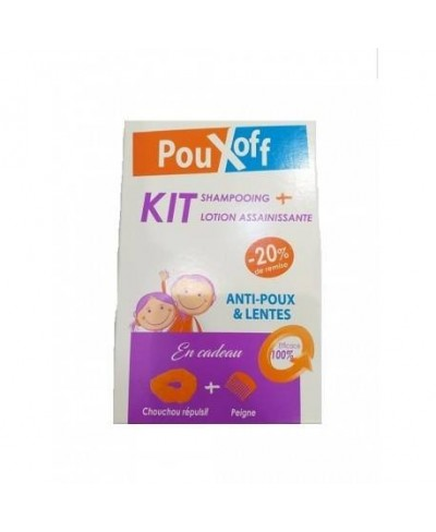 POUX OFF KIT LOTION + SHAMPOOING +CHOUCHOU