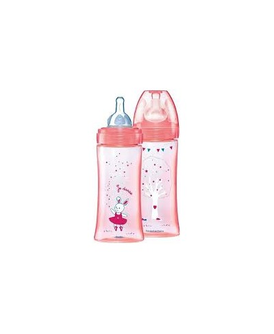 DODIE BIBERON 6M+ 330ML ROSE