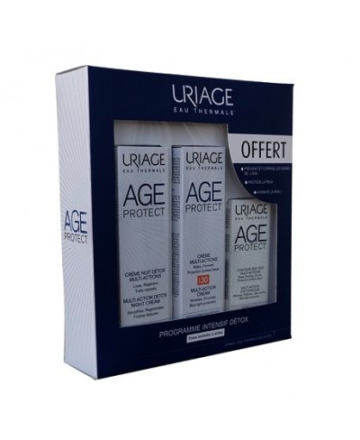 URIAGE AGE PROTECT COFFRET PROGRAMME INTENSIF DETOX PEAUX NORMALES SECHES