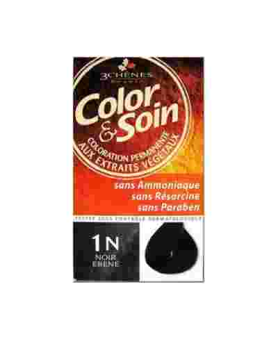COLORATION COLOR & SOIN 1N NOIR EBENE
